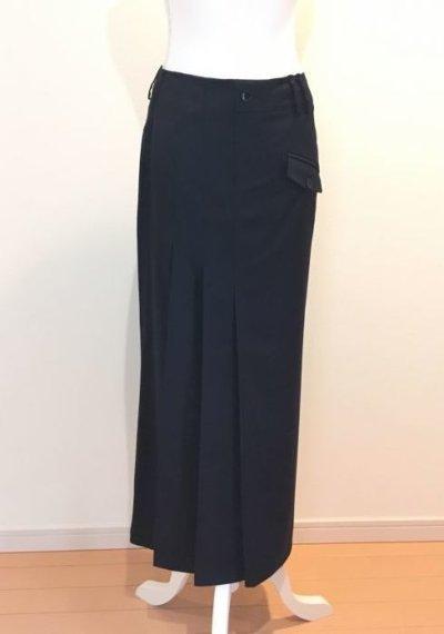 画像1: タックデザインサテン ロングスカート