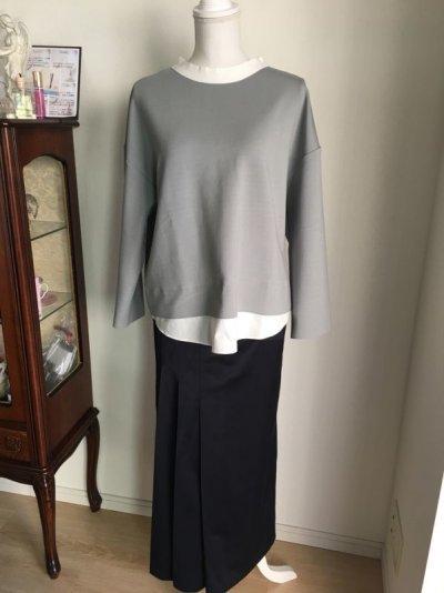 画像2: タックデザインサテン ロングスカート